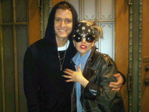 Джастин Тимберлейк и Lady GaGa в рекламе Saturday Night Live