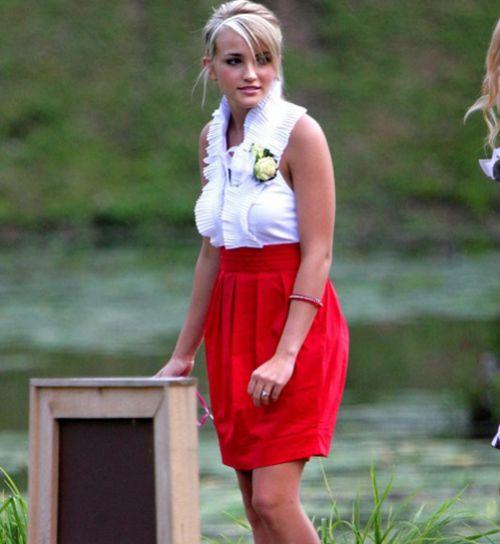 Джейми Линн Спирс на свадьбе кузины своего бой-френда