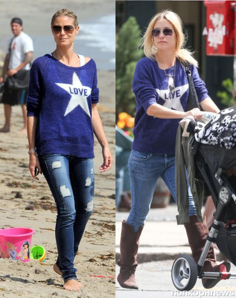 Fashion battle: Хайди Клум и Кейт Хадсон