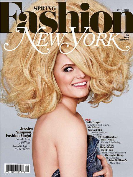 Джессика Симпсон в журнале Fashion New York. Весна 2011