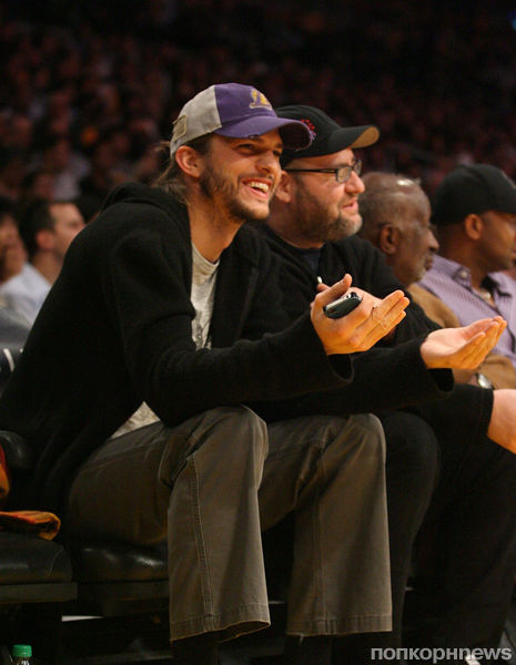 Звезды болеют за баскетбольную команду Los Angeles Lakers