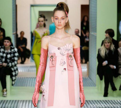 Модный показ новой коллекции Prada. Осень / зима 2015-2016
