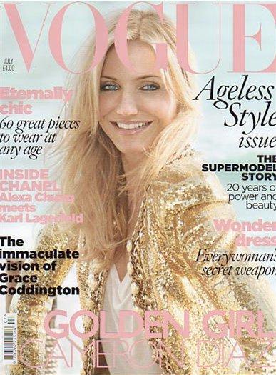 Кэмерон Диаз в журнале Vogue. Июль 2010
