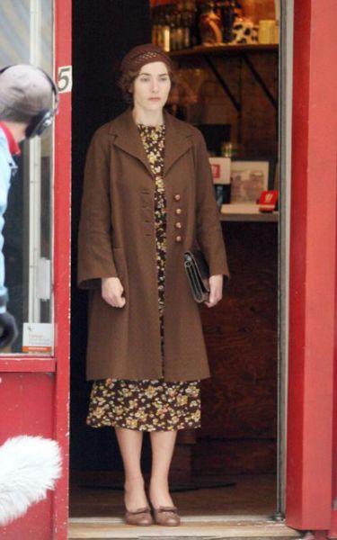 Кейт Уинслет на съемках фильма Mildred Pierce