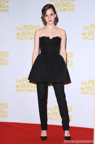 Эмма Уотсон на премьере фильма «Хорошо быть тихоней» в Лондоне