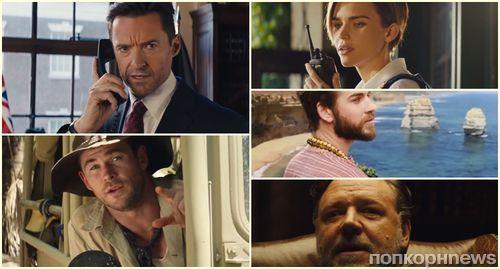 Марго Робби, Крис Хемсворт и Хью Джекман рекламируют Австралию в трейлере несуществующего фильма