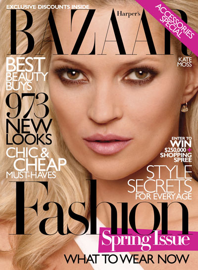 Кейт Мосс для Harper's Bazaar. Март 2010