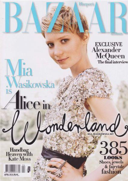 Миа Васиковска в журнале Harper's Bazaar. Австралия. Апрель 2010
