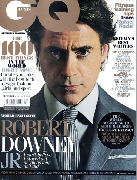 Роберт Дауни мл в журнале GQ. UK. Январь 2011