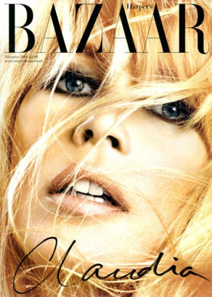 Клаудия Шиффер в журнале Harper's Bazaar UK. Ноябрь 2009