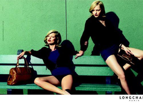 Видео: Кейт Мосс и Саша Пивоварова для рекламы Longchamp