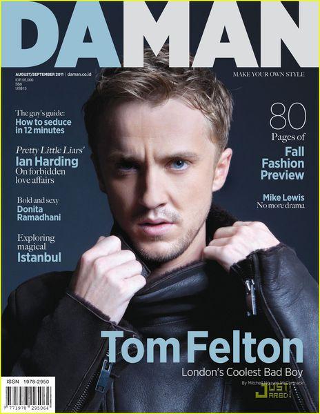 Том Фелтон в журнале Da Man. Август-сентябрь 2011
