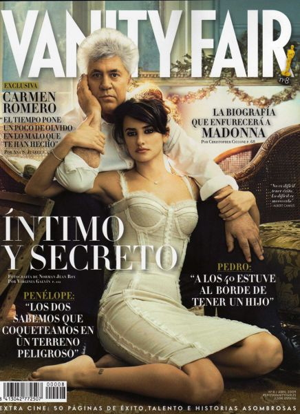 Пенелопа Крус и Педро Альмодовар в журнале Vanity Fair Испания. Апрель 2009