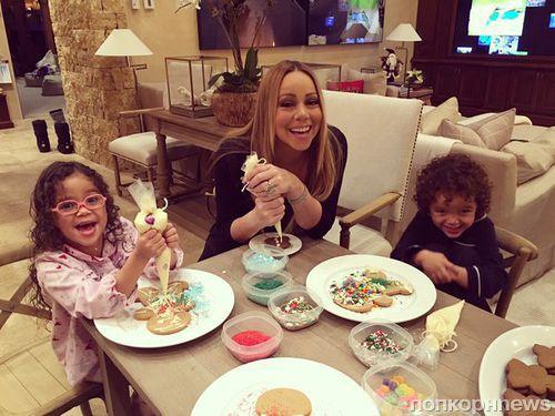Мэрайя Кэри в Аспене с бойфрендом и детьми
