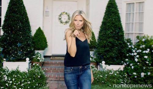 Хайди Клум в рекламе джинсов Jordache
