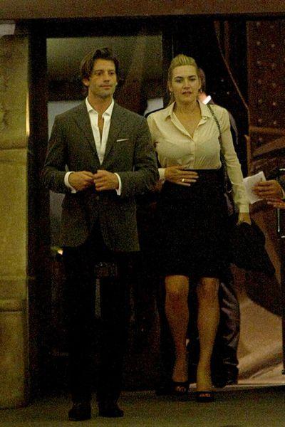 Кейт Уинслет с бойфрендом в Париже