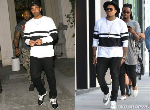 Fashion battle: Drake и Крис Браун