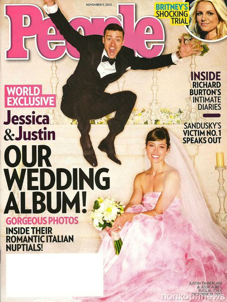 Новые свадебные фото Джастина Тимберлейка и Джессики Бил