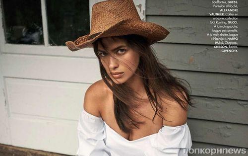 Ирина Шейк примеряет стильные ковбойские образы в фотосессии для Elle