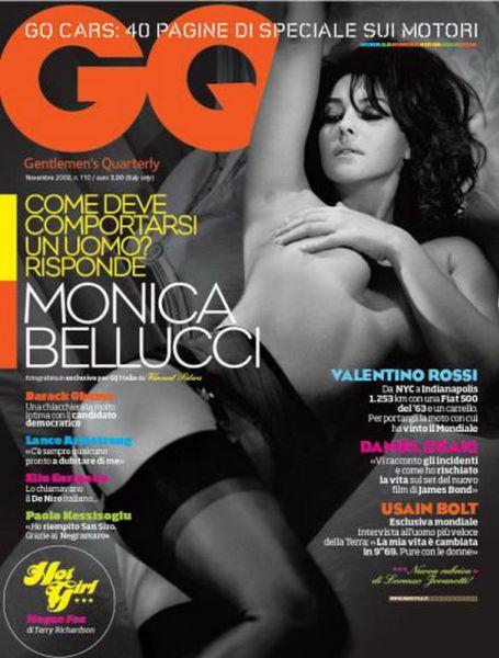 Моника Беллуччи в итальянском GQ. Ноябрь 2008