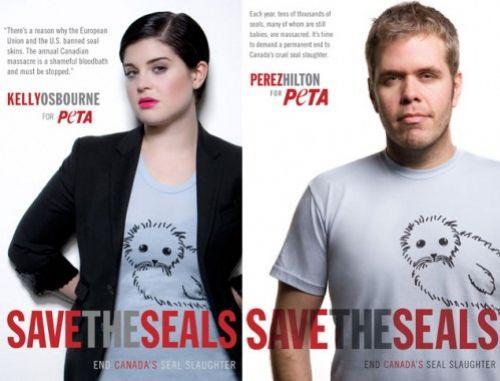Звезды для новой рекламы PETA