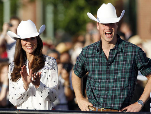 Принца Уильям и Кэтрин по-ковбойски встретили в канадском городе Калгари