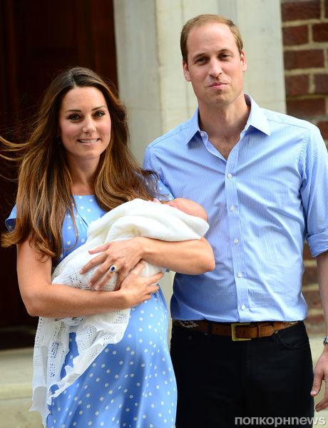 Кейт Миддлтон и принц Уильям покидают роддом: первые фото маленького принца Кембриджского
