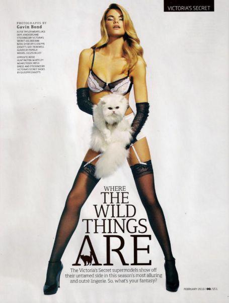 Victoria's Secret в журнале GQ UK. Февраль 2010