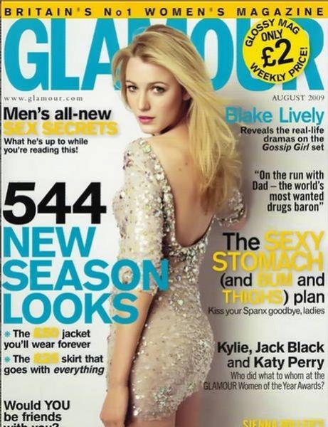 Блейк Лайвли в журнале Glamour UK. Август 2009
