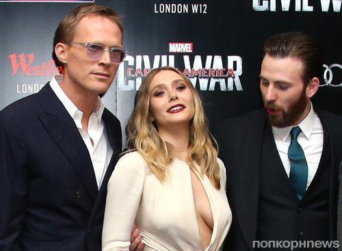 «Капитан Америка» Крис Эванс полюбовался декольте Элизабет Олсен