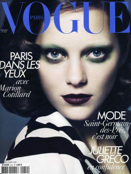 Марион Котийяр в журнале Vogue Франция. Сентябрь 2010