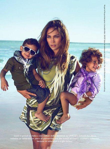 Первый взгляд на Дженнифер Лопес для кампании Gucci children