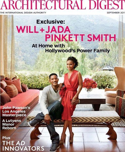 Уилл Смит и его семья в журнале Architectural Digest. Сентябрь 2011