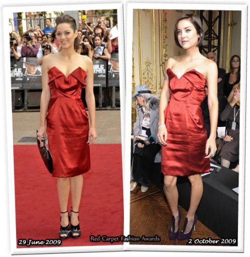 Fashion battle: Марион Котийяр и Джессика Строуп