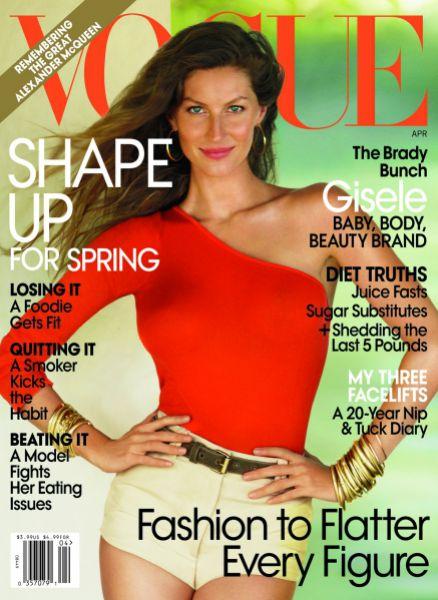 Жизель Бундхен в журнале Vogue. Апрель 2010