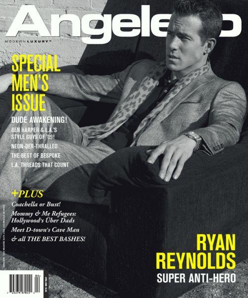 Райан Рейнольдс в журнале Angeleno. Апрель 2009