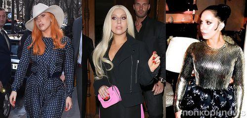 Леди Гага сменила три цвета волос за три дня