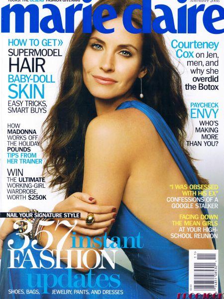 Кортни Кокс на обложке Marie Claire. Ноябрь 2008
