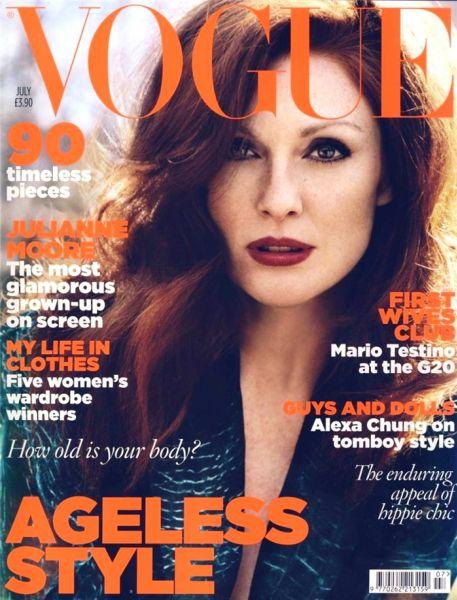 Джулианна Мур в журнале Vogue. Великобритания. Июль 2009