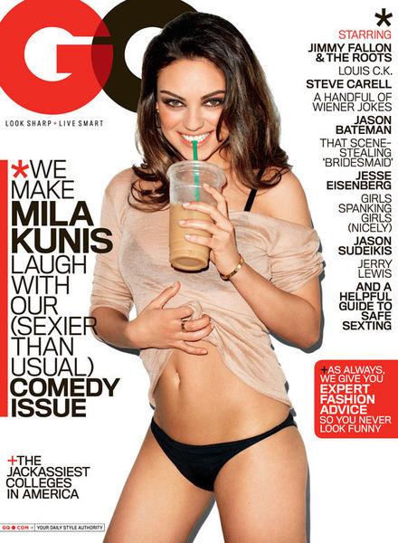 Мила Кунис в журнале GQ. Август 2011