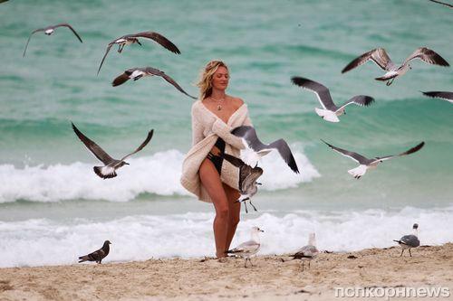 Кэндис Свейнпол на фотосессии в Майами