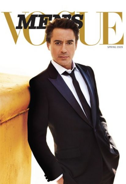 Роберт Дауни мл на обложке Men's Vogue. Весна 2009