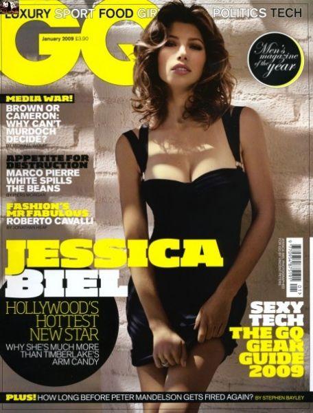 Джессика Бил в GQ. Январь 2009