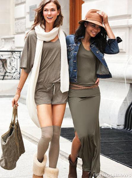Карли Клосс и Шанель Иман в лукбуке Victoria's Secret. Август 2012