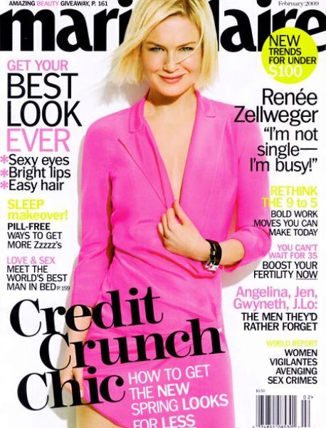 Рене Зеллвегер в журнале  Marie Claire. Февраль 2009