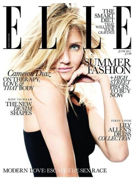 Кэмерон Диаз в журнале Elle UK. Июнь 2011