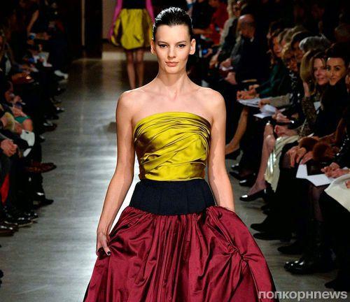 Модный показ новой коллекции Oscar de la Renta. Осень / зима 2015-2016