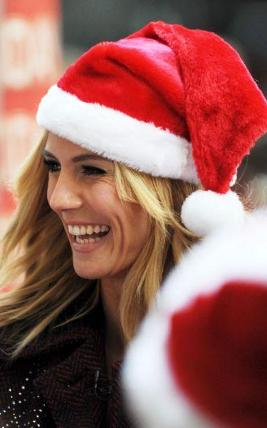 Хайди Клум - помощник Санта Клауса