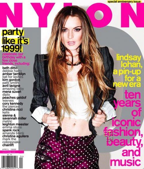 Линдсей Лохан в журнале Nylon. Апрель 2009
