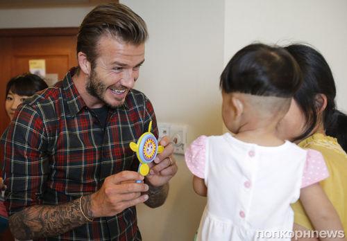 Дэвид Бекхэм посетил детскую больницу в Китае